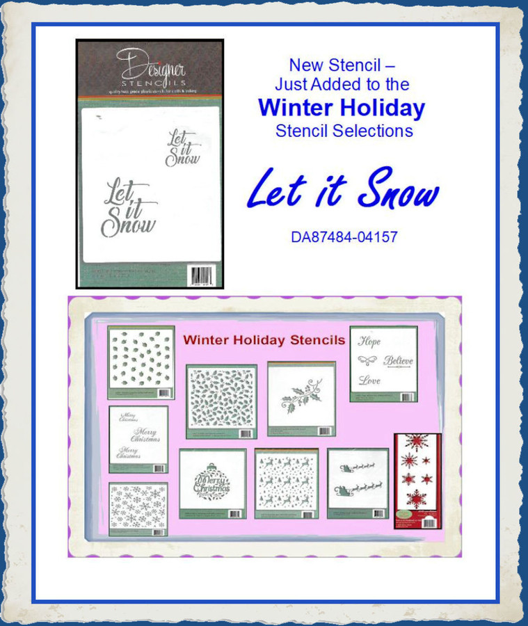 Stencils - Winter Holiday Specials