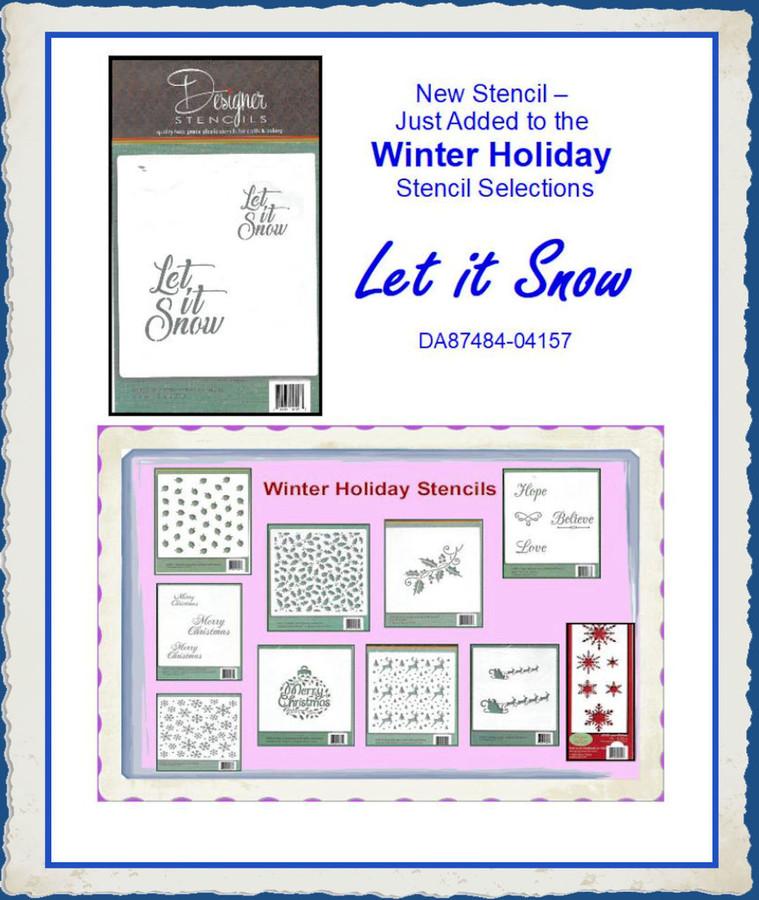 Stencils - Winter Holiday Specials