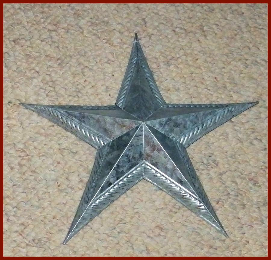 "Metal - Star. 12"" Galvanized (15T208)"
