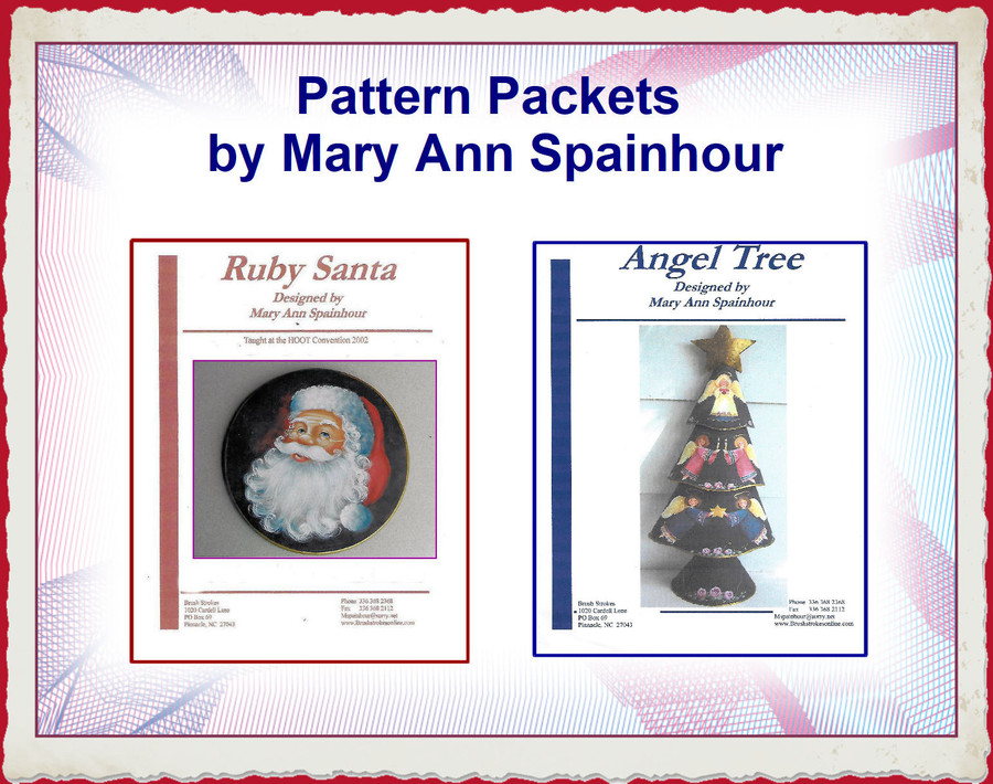 PP - Ruby Santa and Angel Tree by Mary Ann Spainhour Pattern Packet (1319002, 1319003) List Price $9.00 - E-Packets Special $5.25
