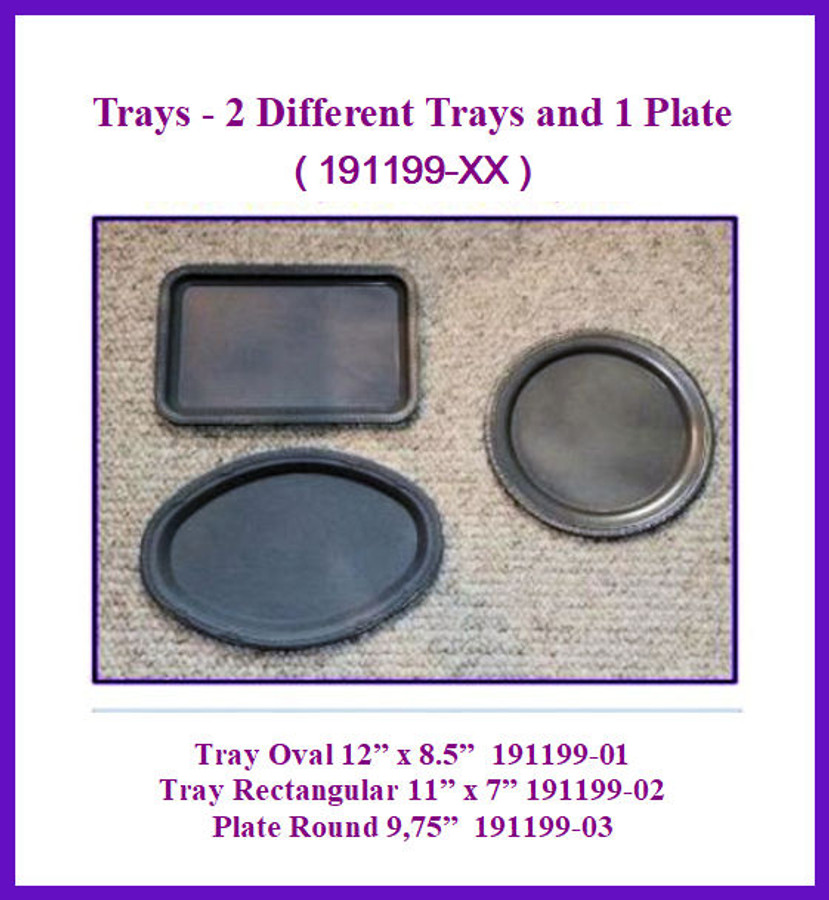 Trays - 2 Different Trays and 1 Plate (191199-XX)