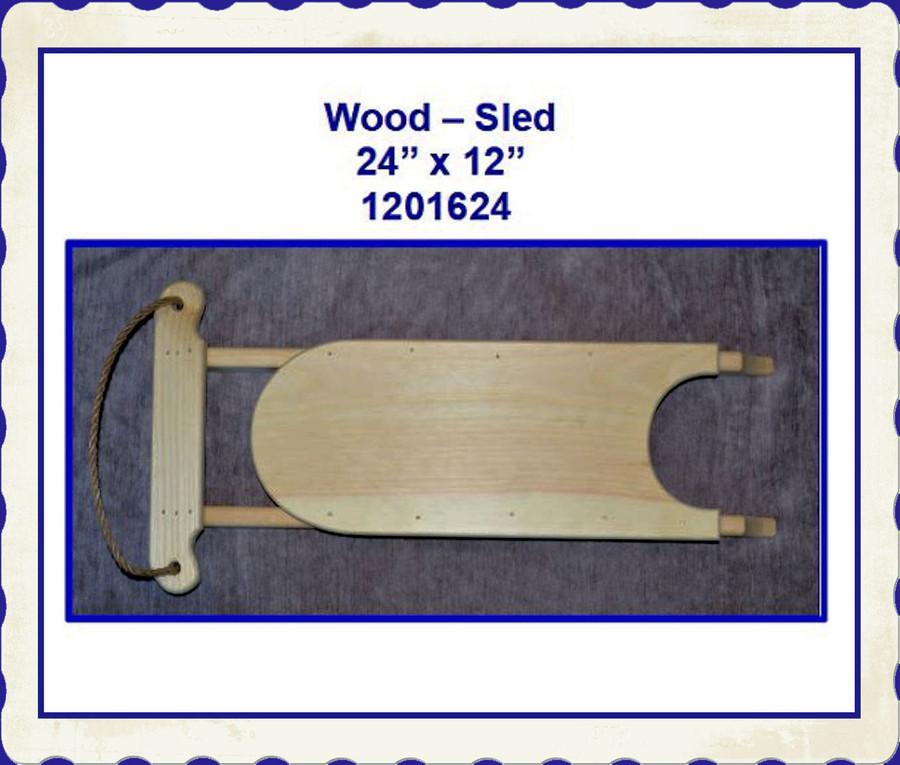 """Wood - Sled 24"""" x 12"""" x 4"""" (1201624)"""