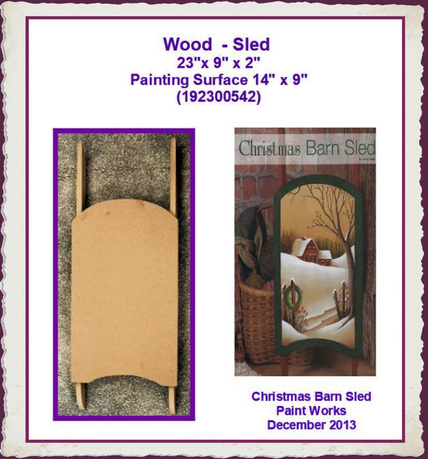 """Wood  - Sled 23""""x 9"""" x 2"""" (192300542)"""