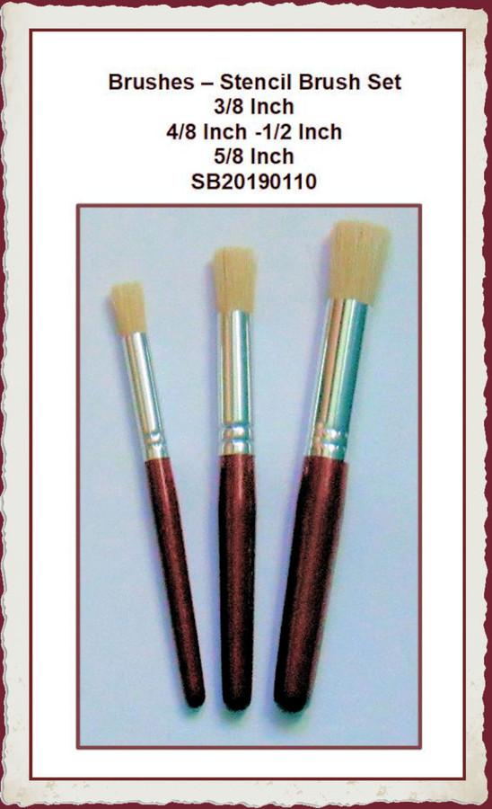 Brush - Stencil Brush Set - 3 Brushes (SB20190110) List Price $13.00