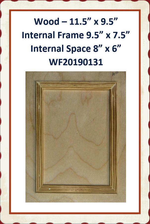 "Wood - Frame within Frame 11.5"" x 9.5"" ( WF20190131) List Price $12.50"