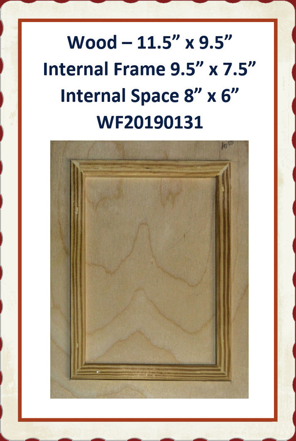 "Wood - Frame within Frame 11.5"" x 9.5"" ( WF20190131) List Price $12.50"