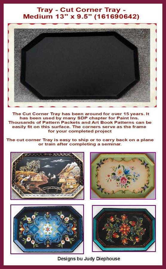 """Tray - Cut Corner Tray -Medium 13"""" x 9.5""""  (161690642)"""