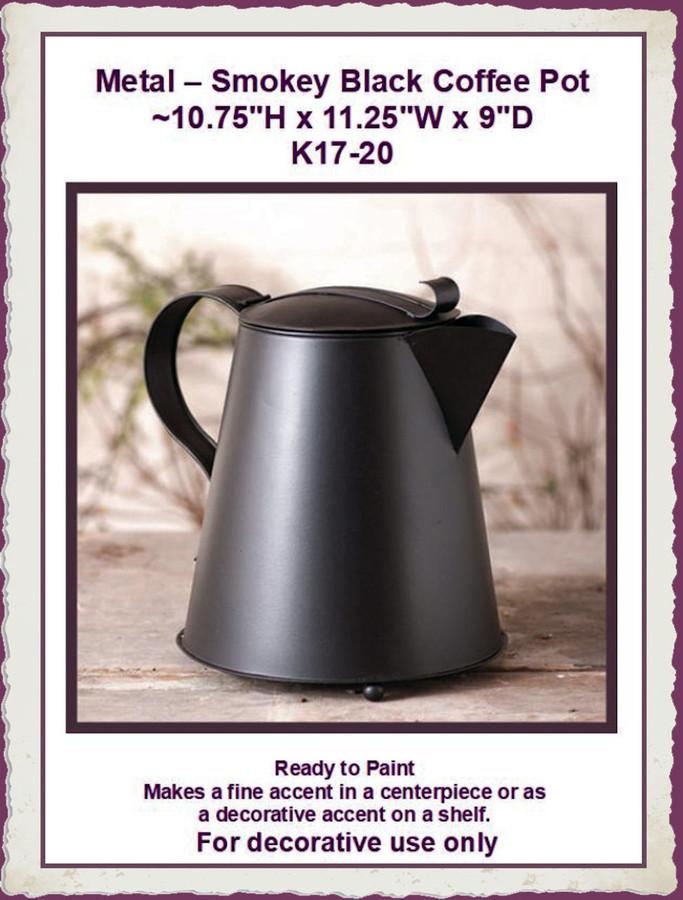 Metal - Smokey Black Coffee Pot (K-17-20) List Price $34.95