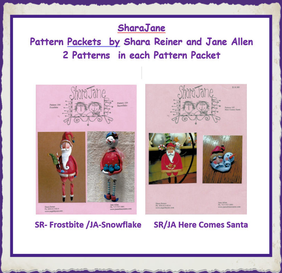PP - Shara Reiner/Jane Allen Pattern Packets (2019SJ XXX)