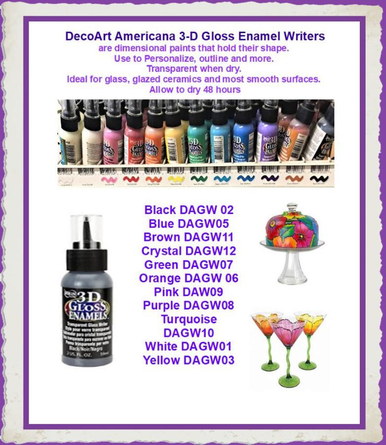 Paint -  DecoArt 3D Gloss Writer (DAGWxx) List Price $4.00