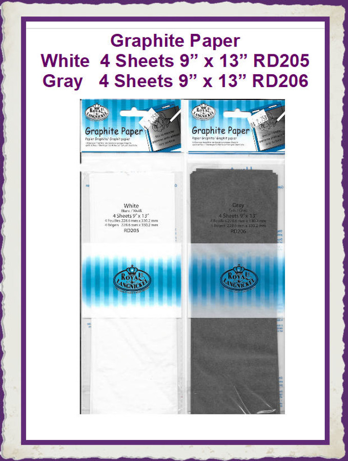 """PT - Graphite Paper 4 Sheets 9"""" x 13""""  (RD205, RD206) List Price $3.00"""