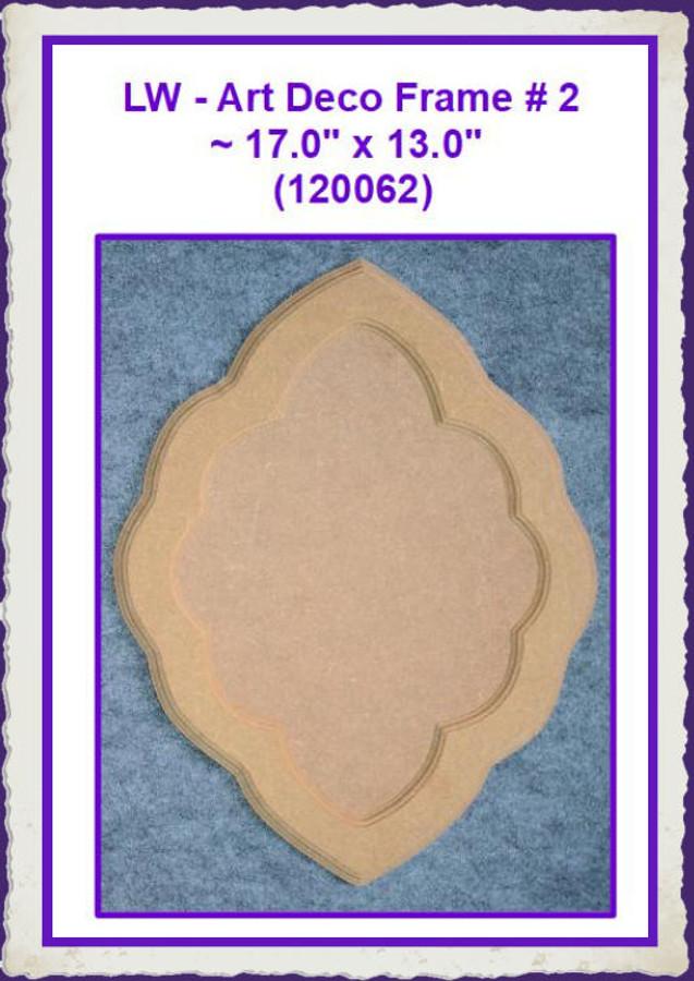 "LW - Art Deco Frame-2  13"" x 17"" (120062) List Price $13.00"