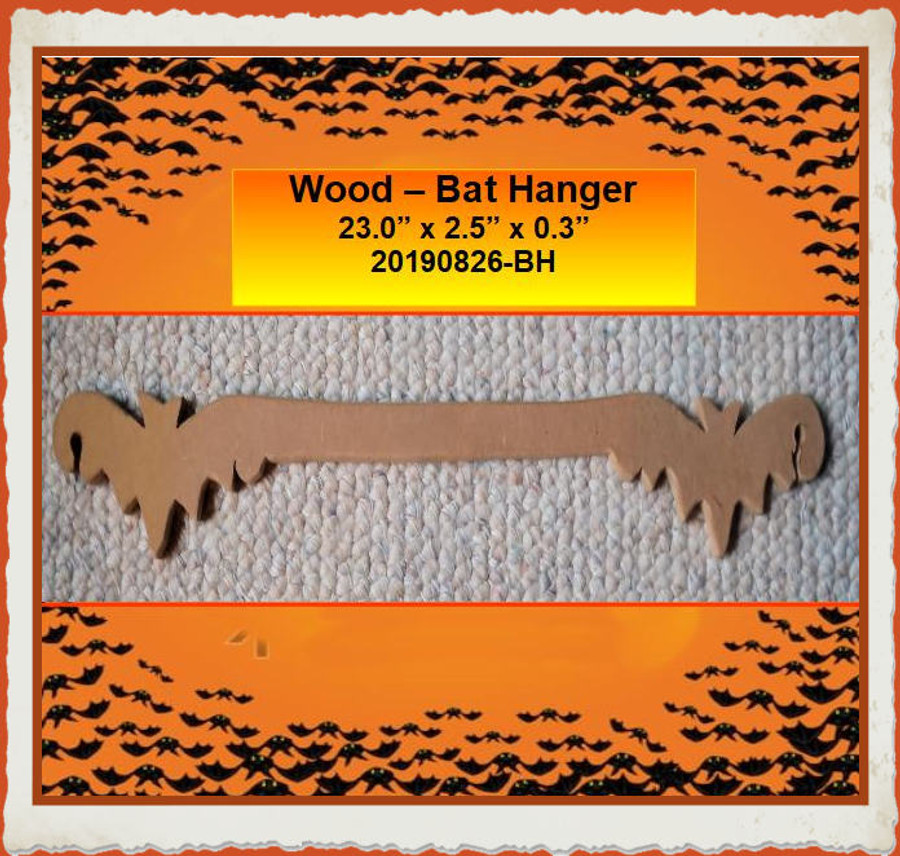 "Wood - Bat Hanger 23"" x 2.5"" x 0.35"" (20190826-BH) List Price $8.00"