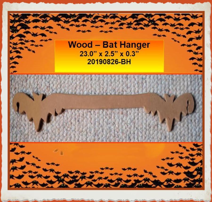 """Wood - Bat Hanger 23"""" x 2.5"""" x 0.35"""" (20190826-BH) List Price $7.70"""