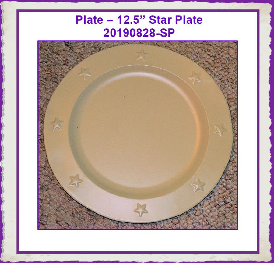"Plate - 12.5"" Ivory Star Plate (20190828-SP) List Price $10.50"