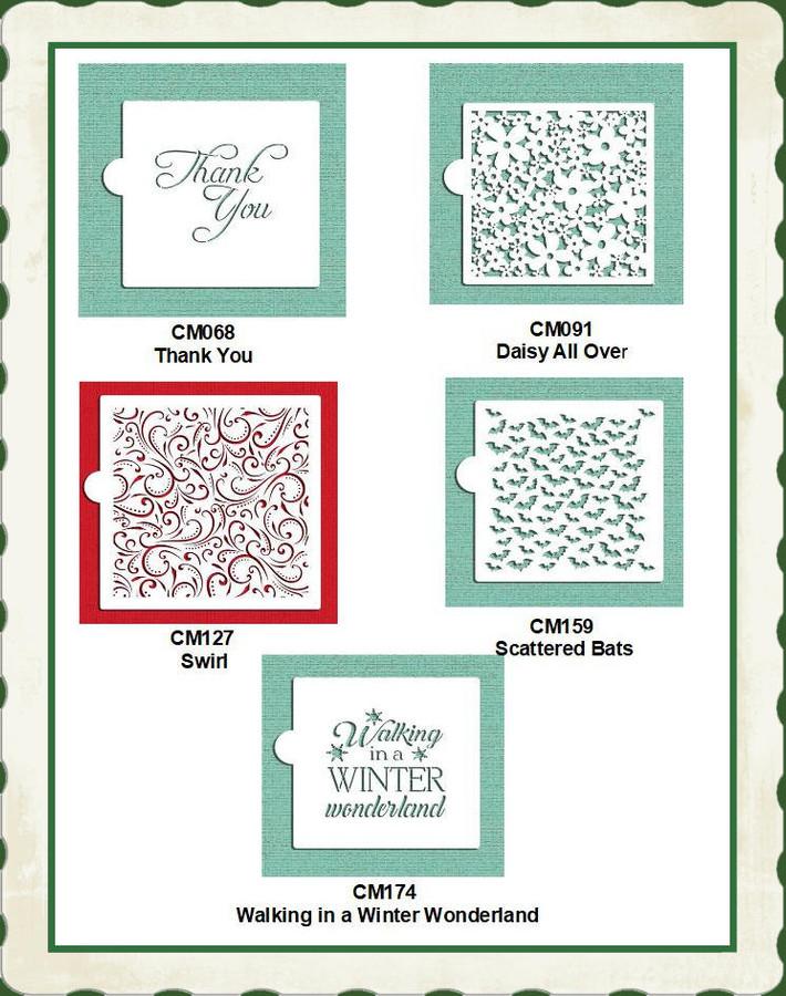 """Stencils - Designer Green Stencils 5"""" x  5"""" (CM060) List Price $6.00"""