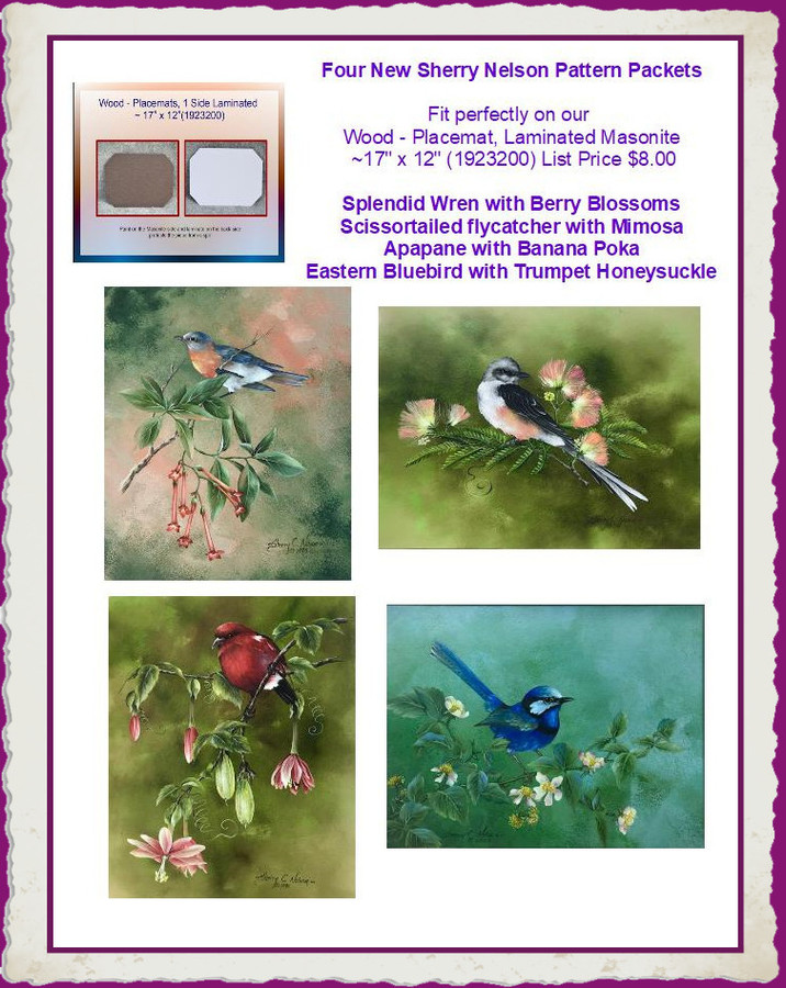 PP  - Sherry Nelson Masonite Pattern Packet Specials  - For Every Piece of  Masonite get $2.00 Off on a Pattern Packet