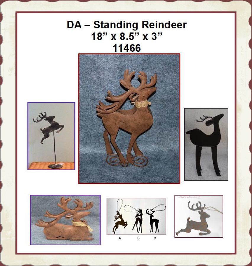 "DA - Standing Reindeer 18"" x 8.5"" x 3"" (11466) List Price $20.00"