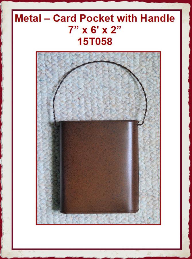 """Metal - Card Pocket 7"""" x 6"""" x 2"""" (15T058) List Price $7.00"""