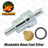 Powermax Lightweight Alloy Inline Performance Fuel Filter 8mm