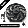 """14"""" Powermax Electric Radiator Cooling Fan with Thermostat 220W 12 Volt"""
