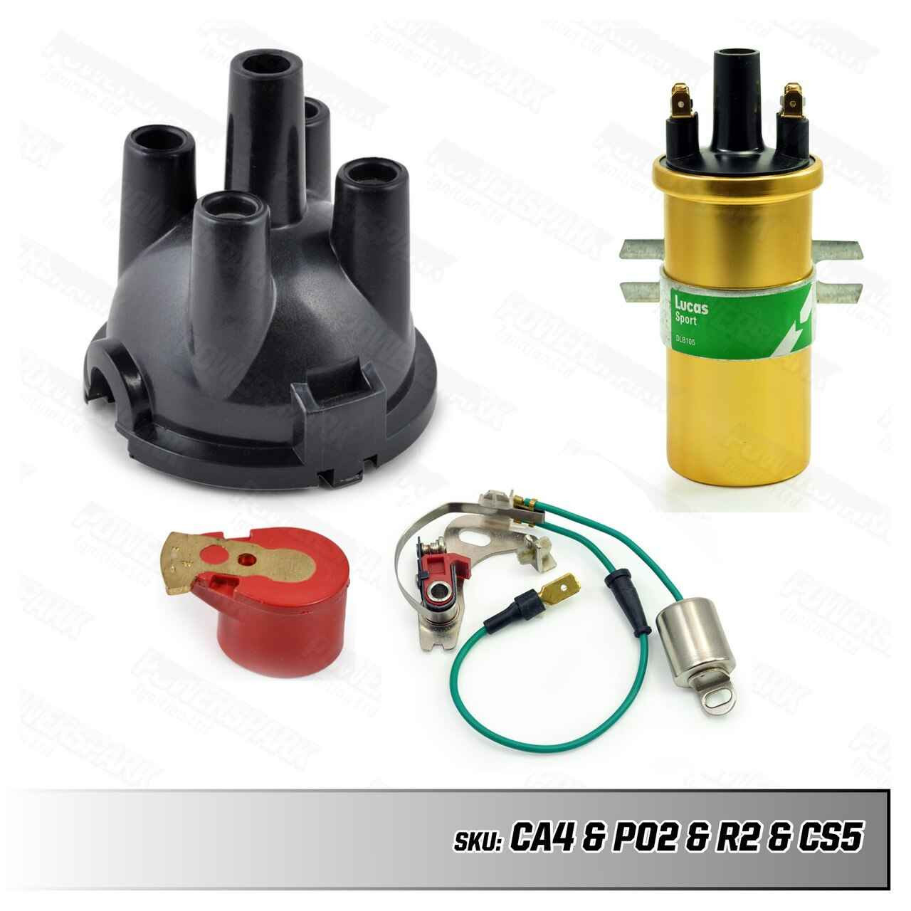 Lucas Lucas 23D and 25D Distributor Upgrade Kit with Ignition Coil