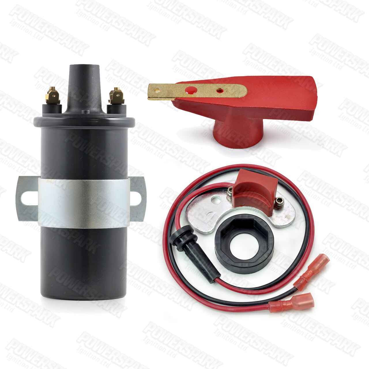 Powerspark 35D V8 Electronic Ignition Conversion Bundle with Coil and Rotor