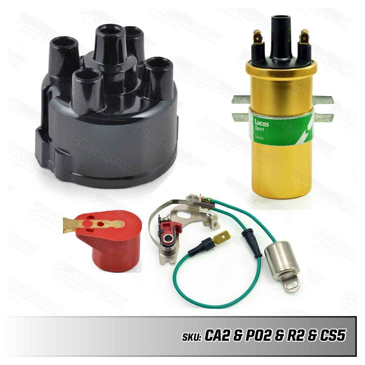 Lucas Lucas 45D Distributor Service Kit with Ignition Coil