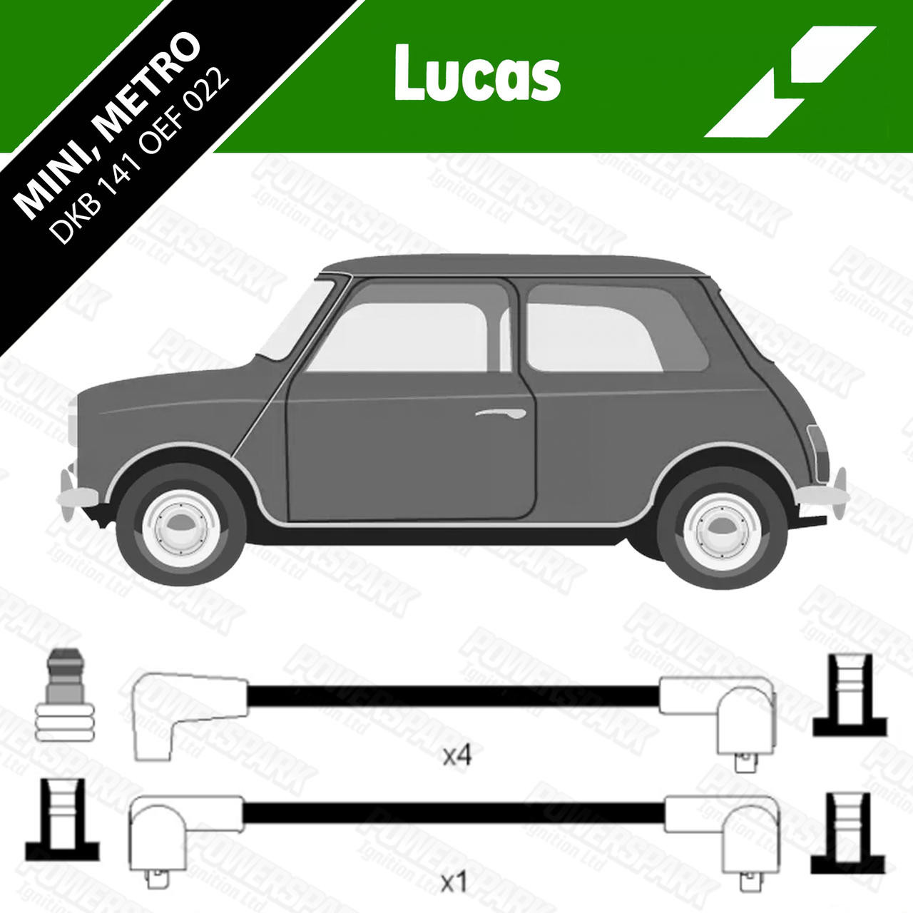 Lucas Classic Mini HT Leads Genuine Lucas OEF022