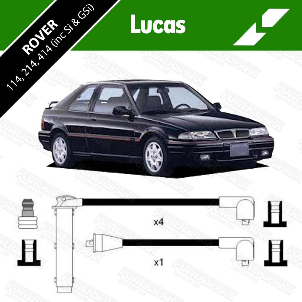 Lucas Rover 114, 214, 414 inc Si and GSI Genuine Lucas HT leads DKB406
