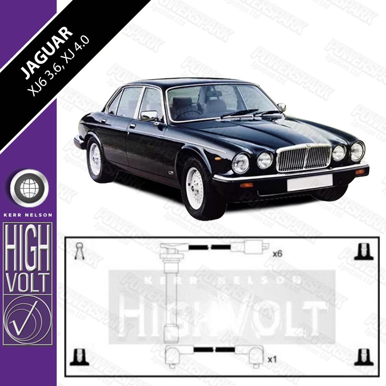 High Volt Jaguar XJ6 3.6 and Jaguar XJ 4.0 High Volt HT Leads OEF318