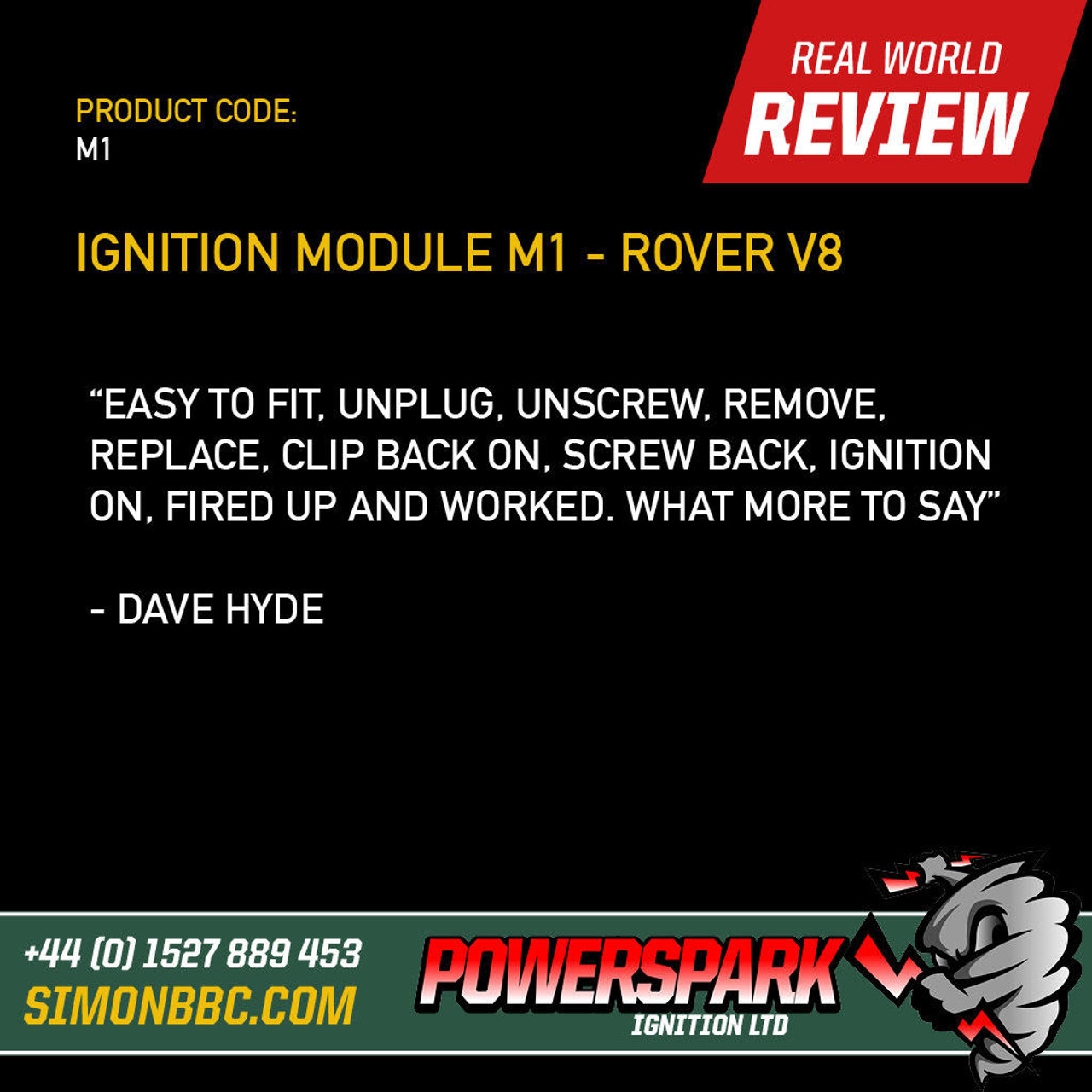 Powerspark Ignition Module and 3 pin linking Lead