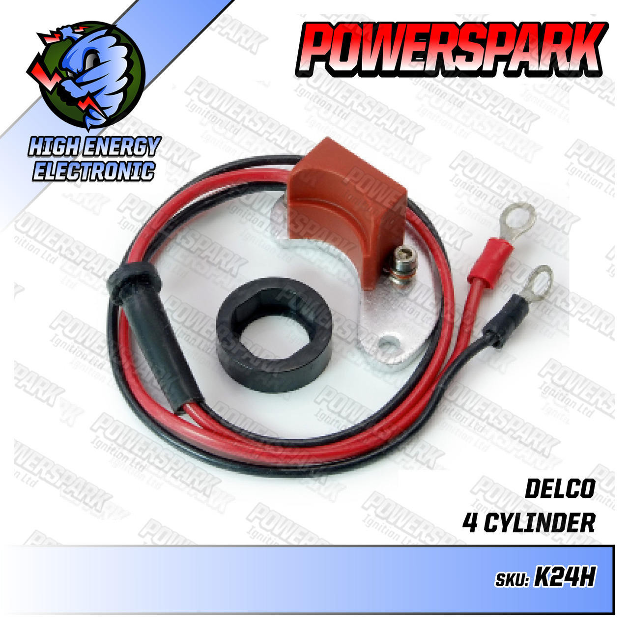 Powerspark Powerspark Electronic Ignition Kit for Delco 4 Cyl Distributor High Energy K24h