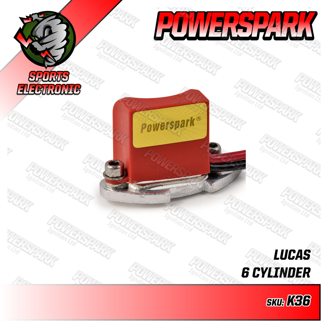 K36 - Powerspark Electronic Ignition Kit for Lucas DX6A Non Vac 6 Cyl Distributor
