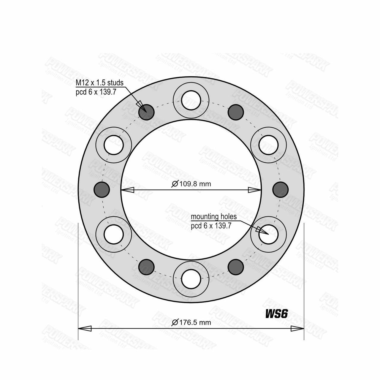 1 Bulldog 30mm Wheel Spacer To Fit 6 Stud Toyota, Mitsubishi, Isuzu, Ford, Vauxhall 4x4 Vehicles