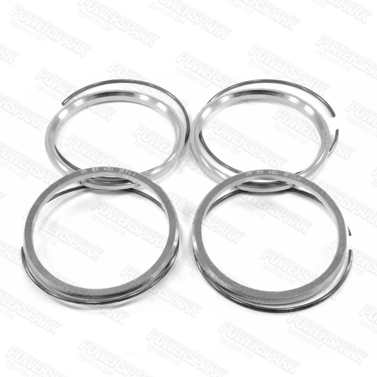 Bulldog 4 x Bulldog Spigot Rings to allow fitment of Discovery 3, 4, Range Rover Sport and L322 wheels to P38
