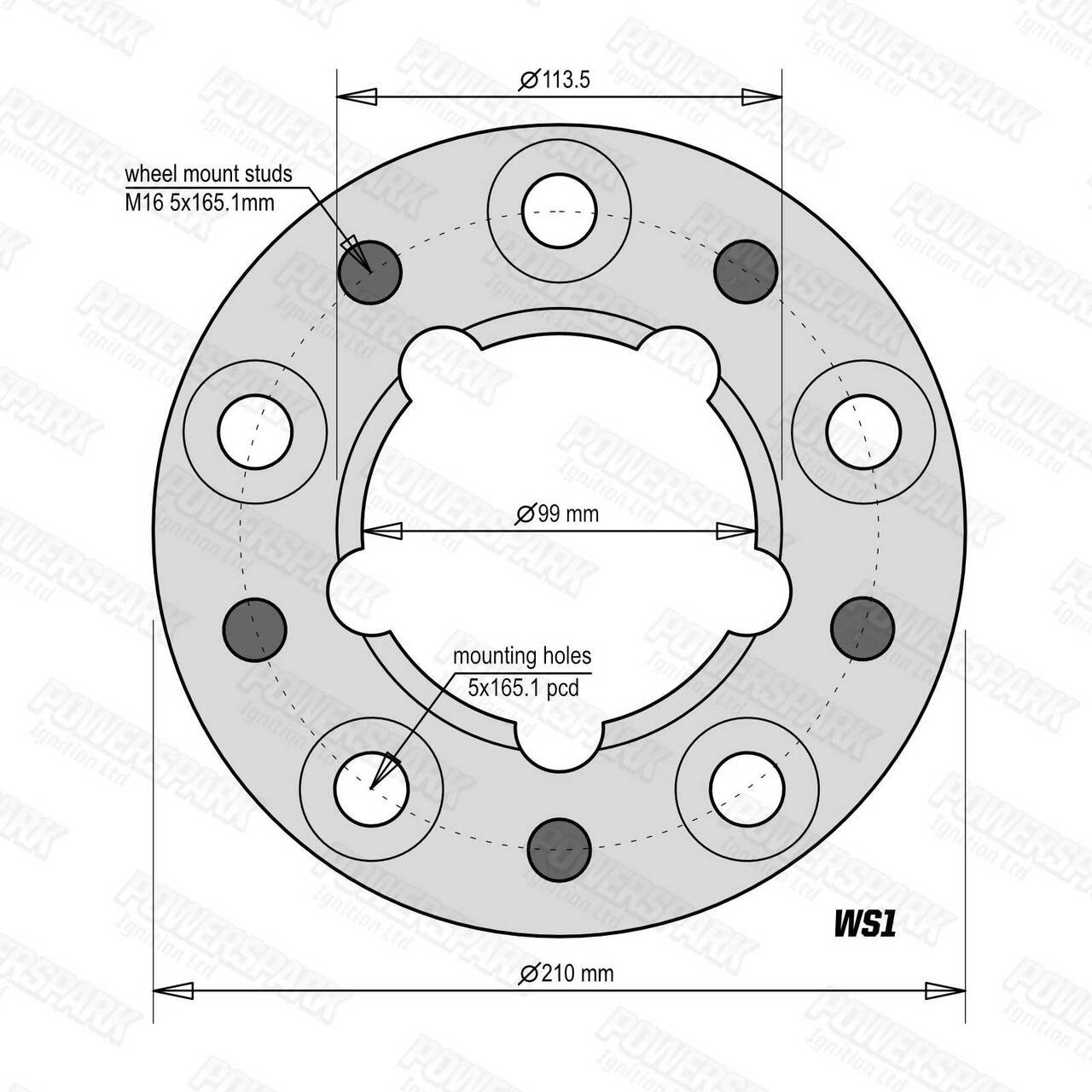 Bulldog Set of 4 Bulldog 30mm Wheel Spacers To Fit Land Rover Defender, Discovery 1 and Range Rover Classic