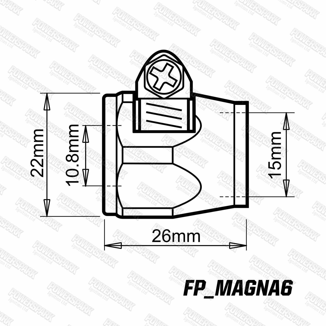 Powermax Magna Fuel Hose Clamps 6mm Pair