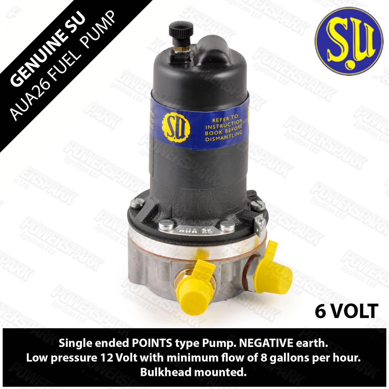 SU Genuine SU AUA26 Electronic Fuel Pump Points - Dual Polarity 6 volt 1.5 psi