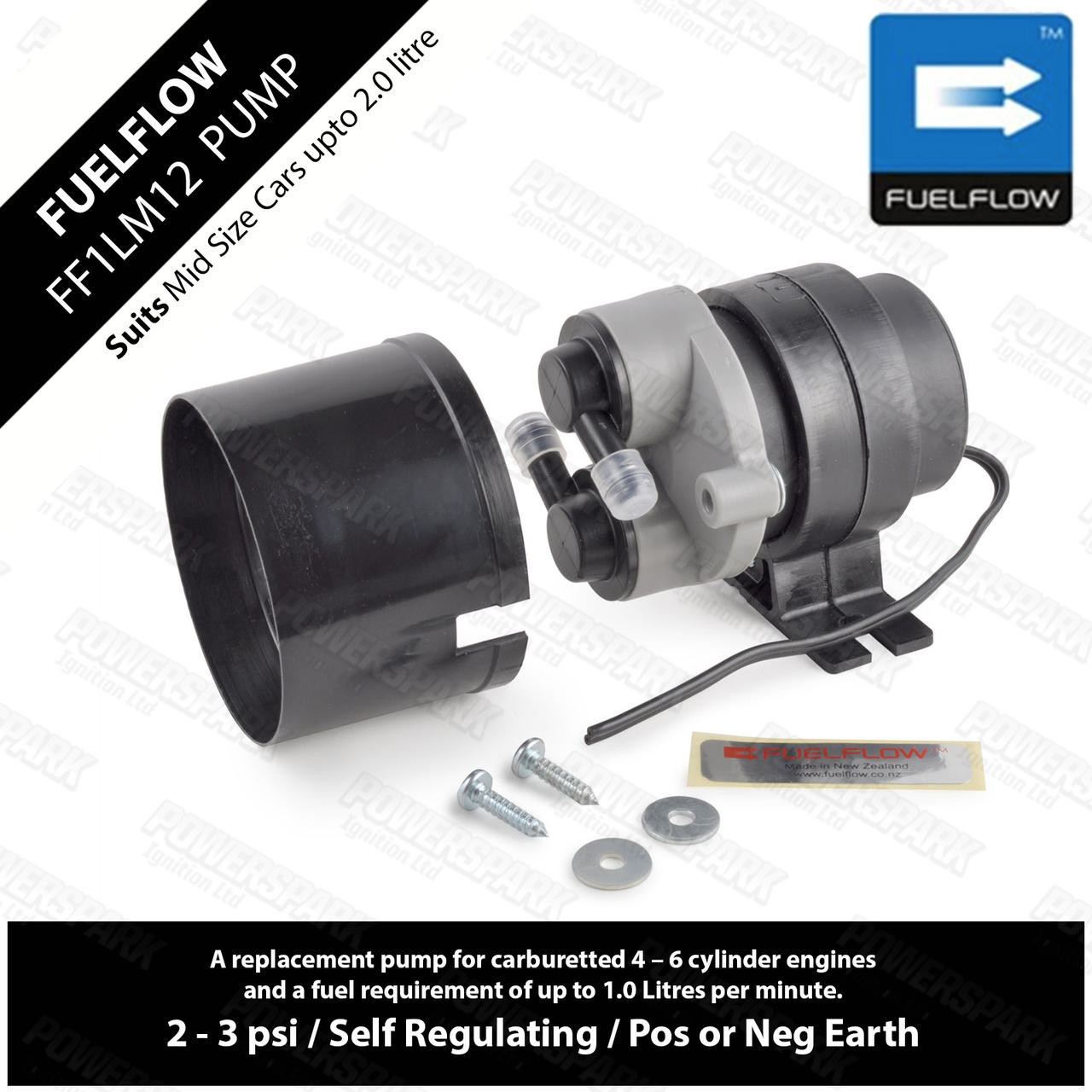 Fuel Flow FuelFlow ECCO 1LM12 SU Fuel Pump for Classic Cars up to 2.0