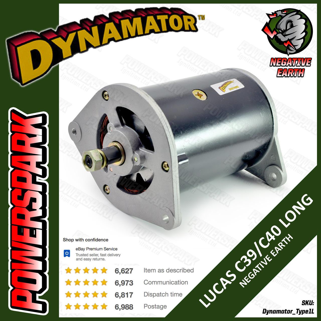 Stealth Dynamator - Dynamo to Alternator Conversion replaces Lucas C40 Long Dynamo - Neg Earth