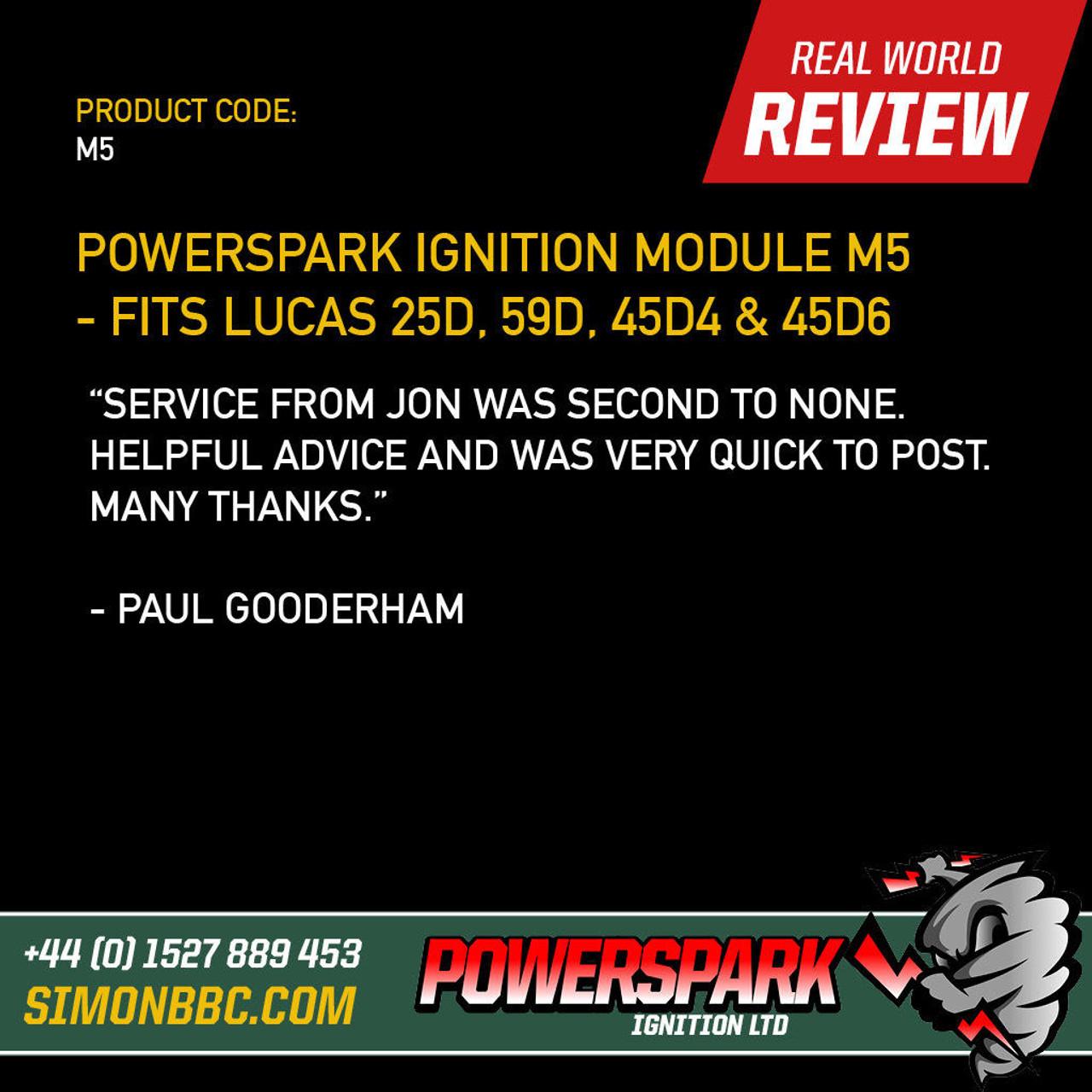 Powerspark Ignition Module M5 - Fits Lucas 25D, 59D, 45D4 and 45D6 Distributors