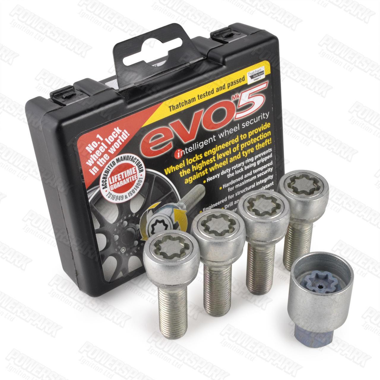 Evo MK5 Evo MK5 Locking Alloy Wheel Bolts 291/5 for Volkswagen T4 Transporter, Ford Galaxy and VW Sharan