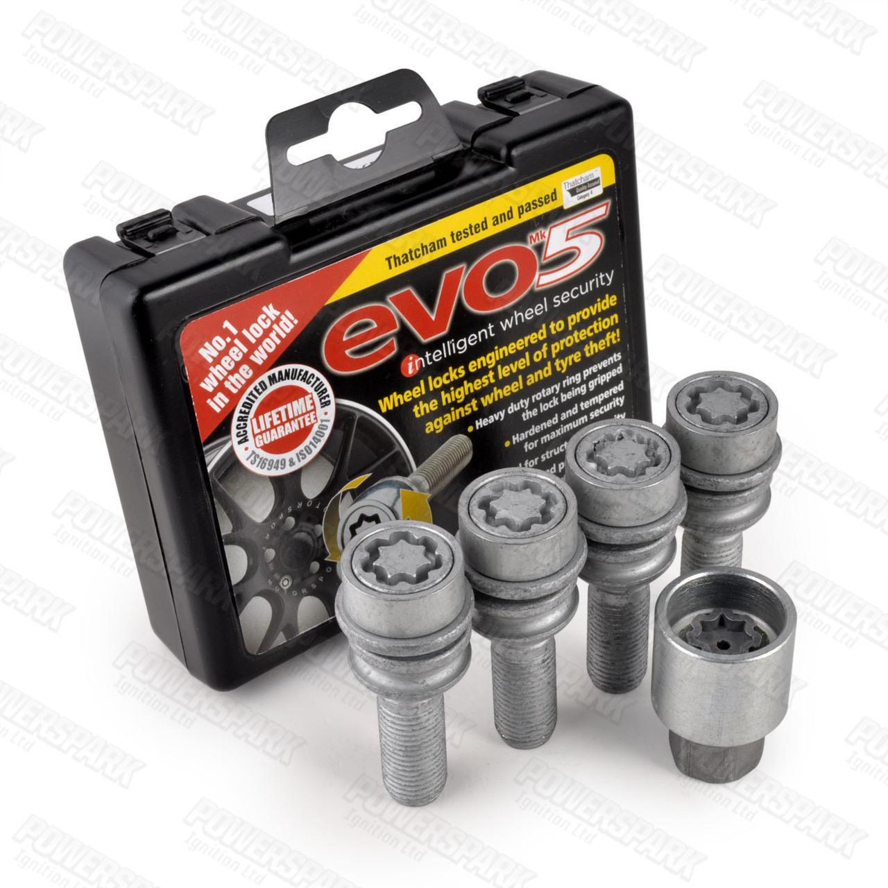 Evo MK5 Evo MK5 Locking Alloy Wheel Bolts 299/5 for Volkswagen T5 Transporter, Amarok, Touareg and Porsche Macan, GT2 and GT3