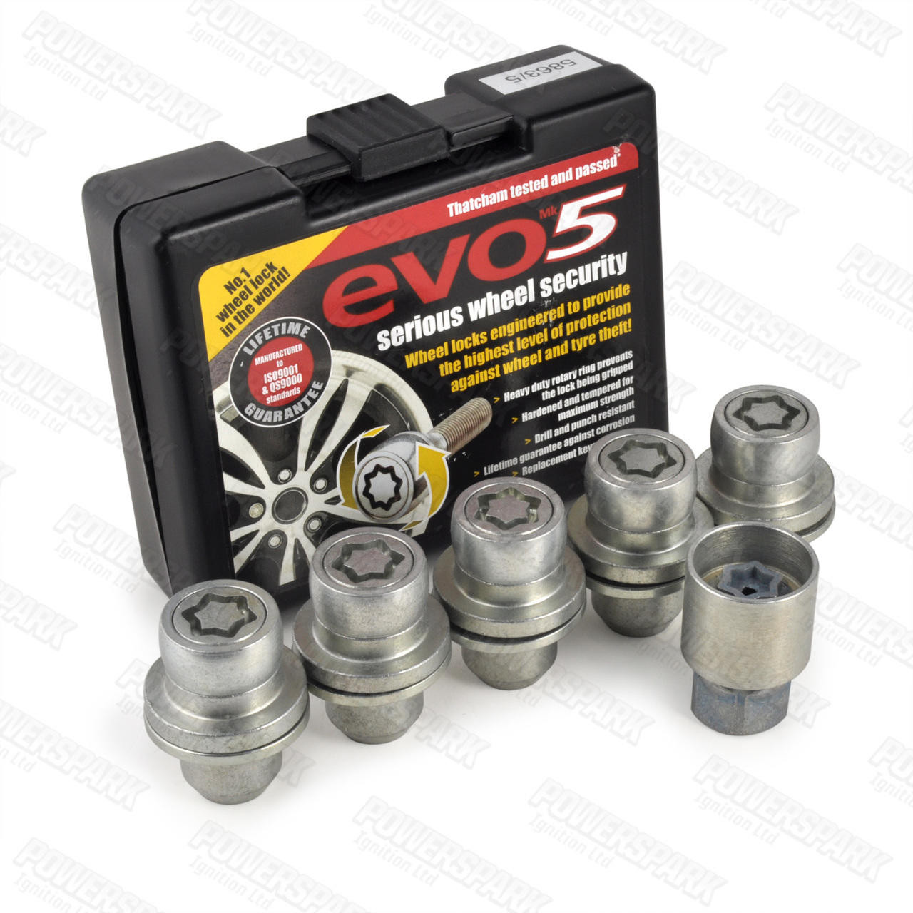 Evo MK5 Evo MK5 Locking Alloy Wheel Bolts 863/5 for Land rover Discovery 3 and Range Rover Sport set of 5