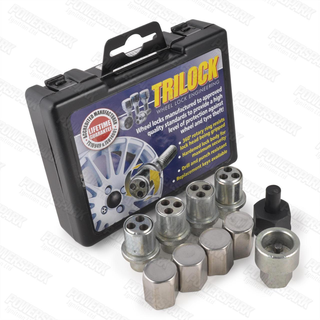 TriLock Trilock Locking Alloy Wheel Nut Set AFH for Classic Austin BL Mini up to 1988
