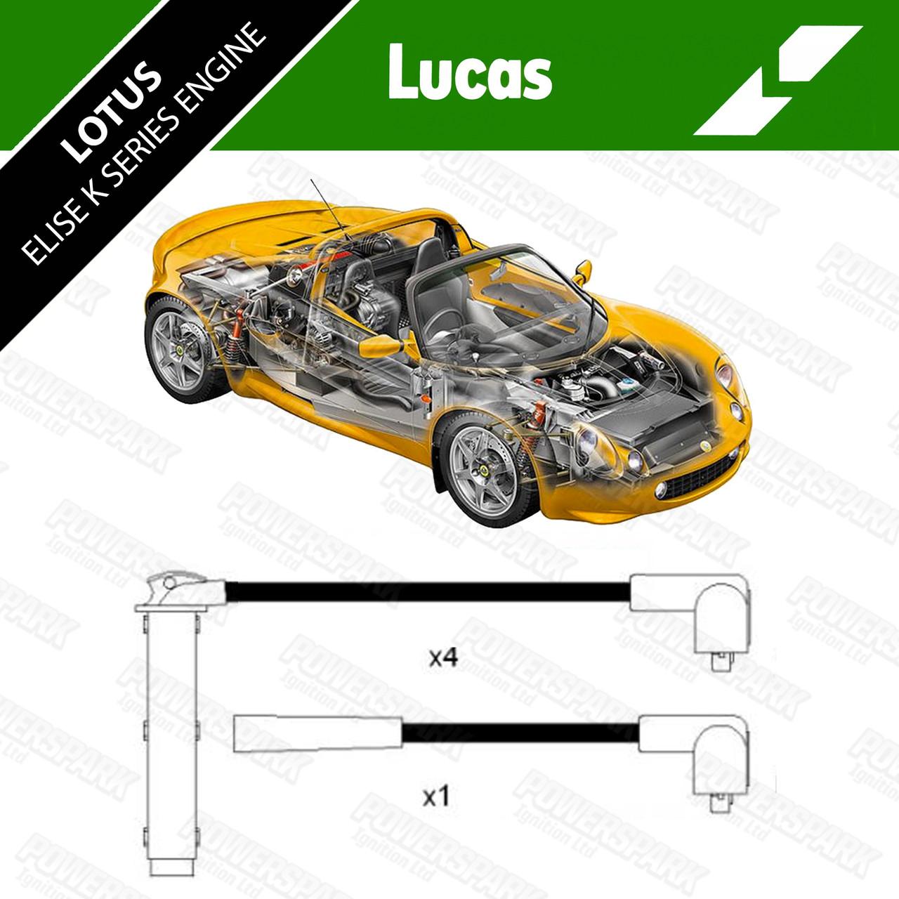 Genuine Lucas HT leads DKB278 for Lotus Elise 1.8