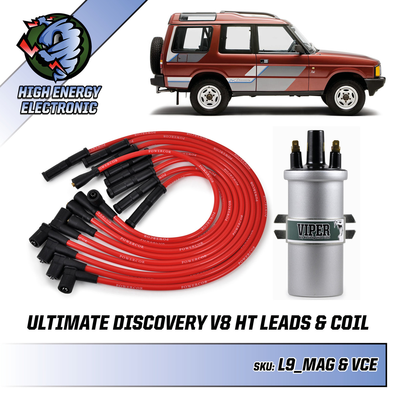 Ultimate Land Rover Discovery V8 Ignition Coil & HT Leads Bundle