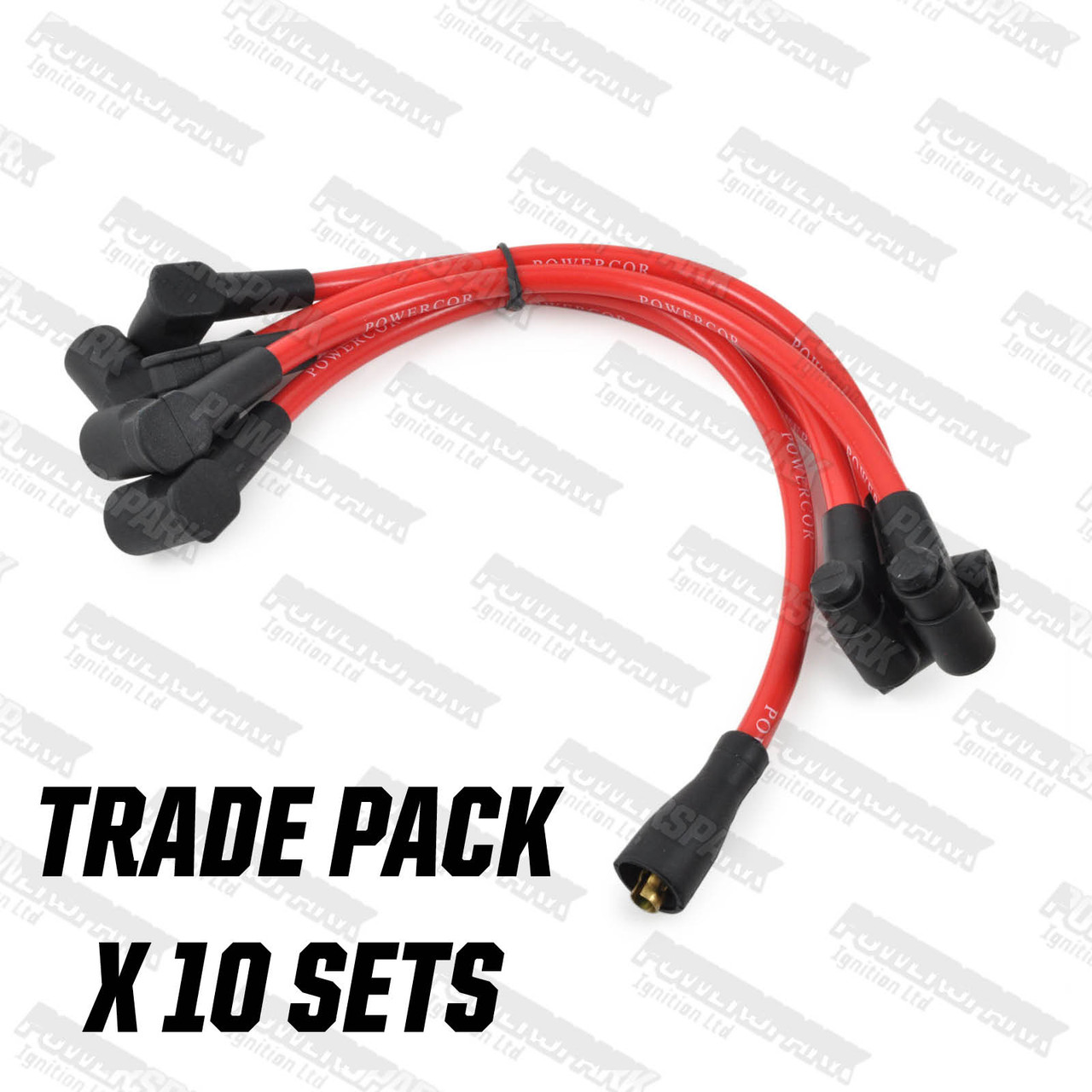 Classic Mini Metro Maxi Allegro 10mm Powercor HT Leads in Red TRADE PACK OF 10