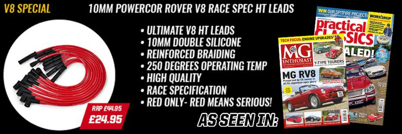 Powercor TVR Griffith and Chimaera V8 Powercor 10mm Performance Double Silicone Race Spec HT Leads